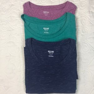 Lot of 3 Mossimo Short Sleeve Crew Neck T-Shirts